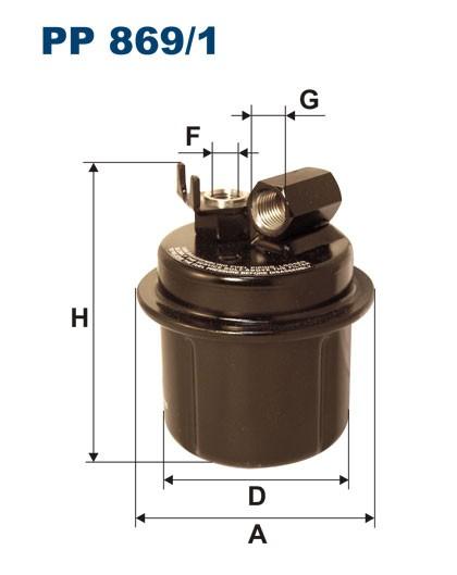 Filtr paliwa PP 869/1 [PP8691] FILTRON