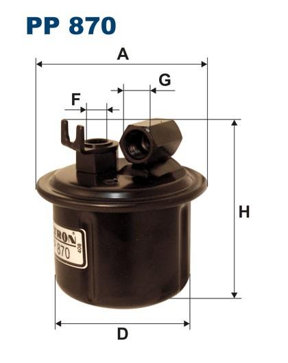 Filtr paliwa PP 870 [PP870] FILTRON
