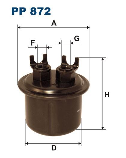 Filtr paliwa PP 872 [PP872] FILTRON