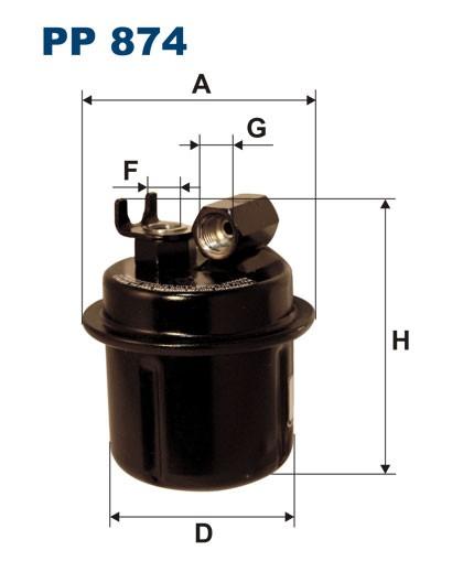 Filtr paliwa PP 874 [PP874] FILTRON