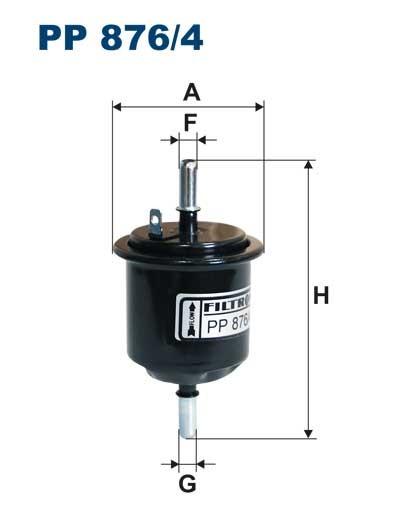 Filtr paliwa PP 876/4 [PP8764] FILTRON