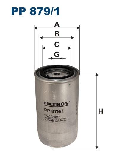 Filtr paliwa PP 879/1 [PP8791] FILTRON