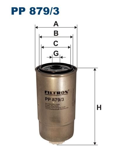 Filtr paliwa PP 879/3 [PP8793] FILTRON