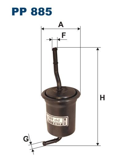Filtr paliwa PP 885 [PP885] FILTRON