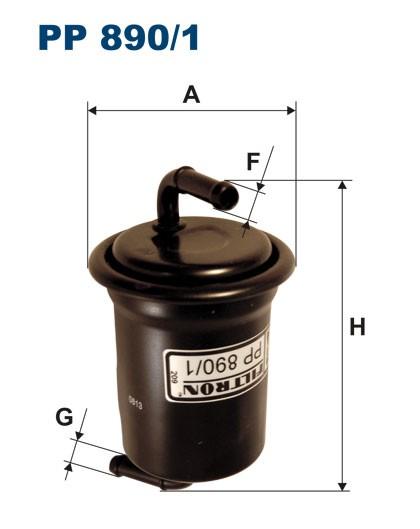 Filtr paliwa PP 890/1 [PP8901] FILTRON