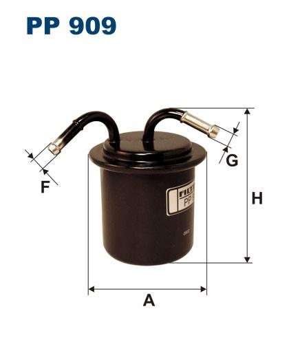 Filtr paliwa PP 909 [PP909] FILTRON