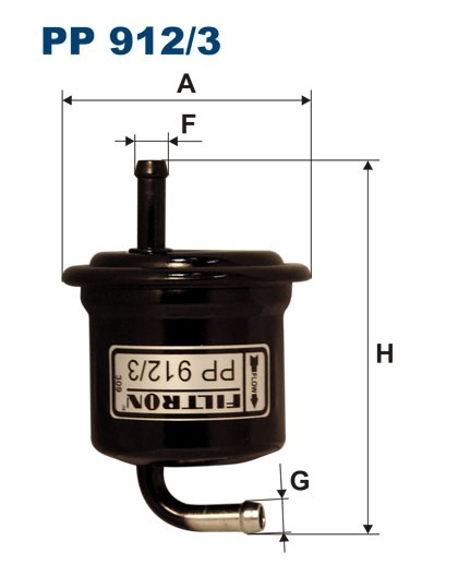 Filtr paliwa PP 912/3 [PP9123] FILTRON