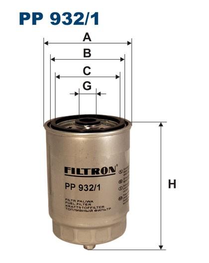 Filtr paliwa PP 932/1 [PP9321] FILTRON