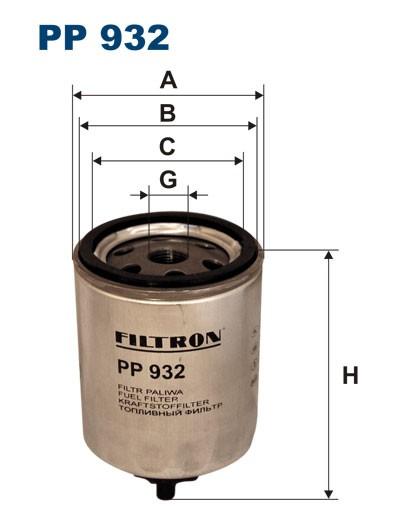 Filtr paliwa PP 932 [PP932] FILTRON