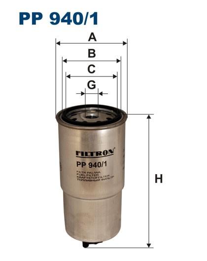 Filtr paliwa PP 940/1 [PP9401] FILTRON