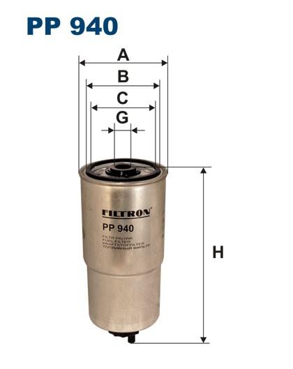 Filtr paliwa PP 940 [PP940] FILTRON