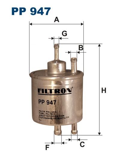 Filtr paliwa PP 947 [PP947] FILTRON