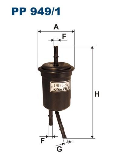 Filtr paliwa PP 949/1 [PP9491] FILTRON