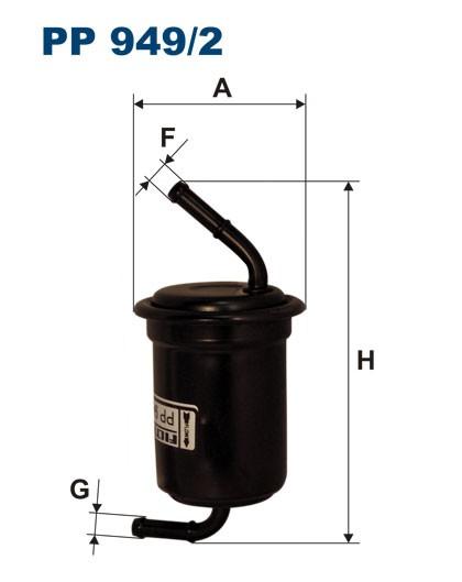 Filtr paliwa PP 949/2 [PP9492] FILTRON