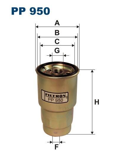 Filtr paliwa PP 950 [PP950] FILTRON