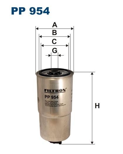 Filtr paliwa PP 954 [PP954] FILTRON