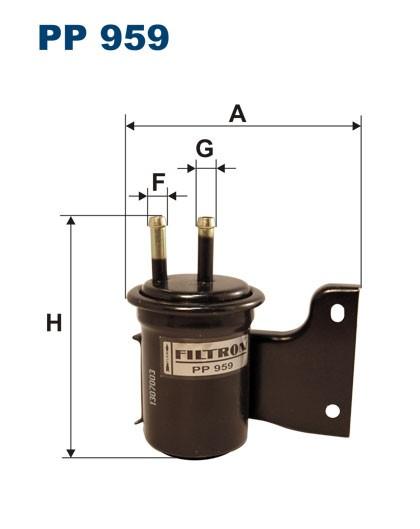 Filtr paliwa PP 959 [PP959] FILTRON