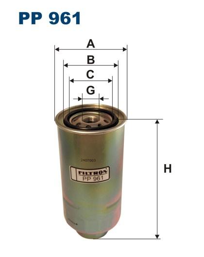 Filtr paliwa PP 961 [PP961] FILTRON