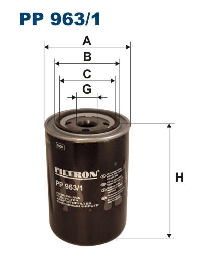 Filtr paliwa PP 963/1 [PP9631] FILTRON