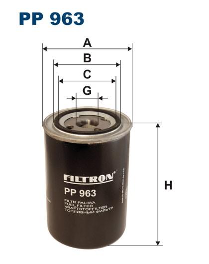 Filtr paliwa PP 963 [PP963] FILTRON