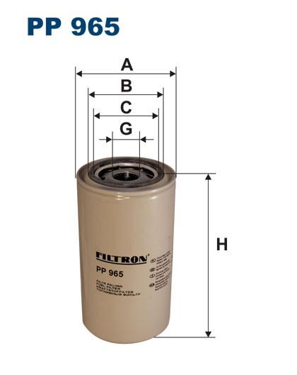 Filtr paliwa PP 965 [PP965] FILTRON
