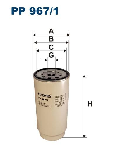 Filtr paliwa PP 967/1 [PP9671] FILTRON