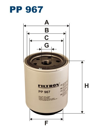 Filtr paliwa PP 967 [PP967] FILTRON