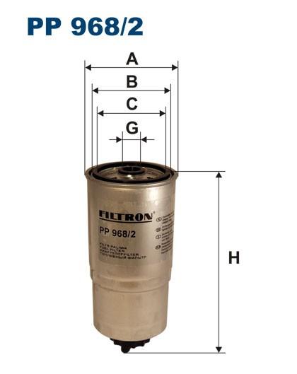 Filtr paliwa PP 968/2 [PP9682] FILTRON