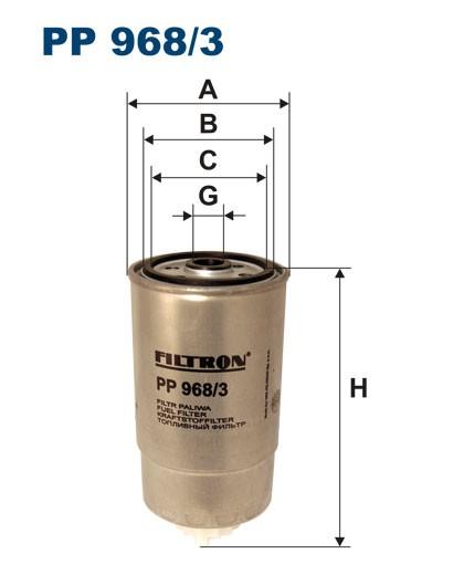 Filtr paliwa PP 968/3 [PP9683] FILTRON