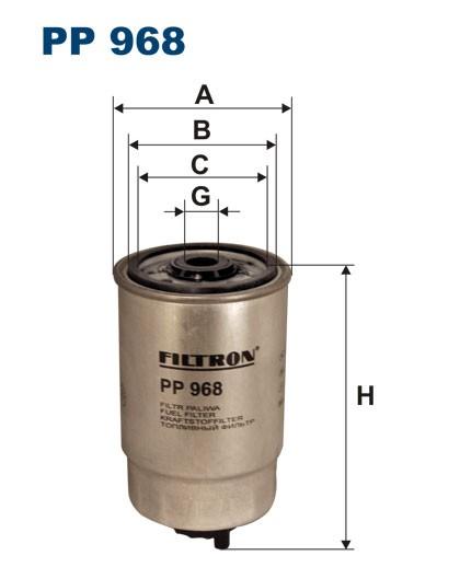 Filtr paliwa PP 968 [PP968] FILTRON