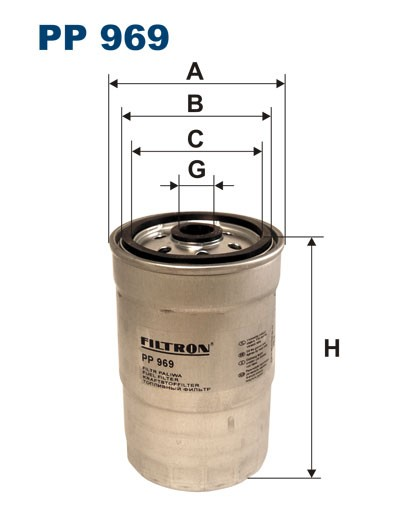 Filtr paliwa PP 969 [PP969] FILTRON