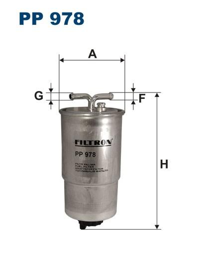 Filtr paliwa PP 978 [PP978] FILTRON