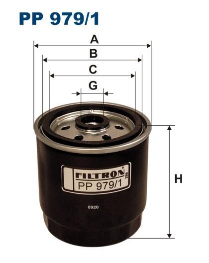 Filtr paliwa PP 979/1 [PP9791] FILTRON