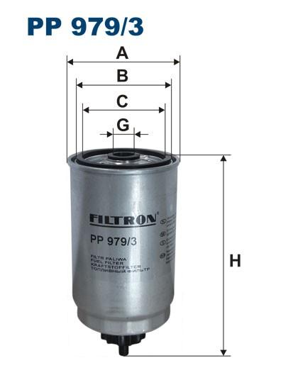 Filtr paliwa PP 979/3 [PP9793] FILTRON