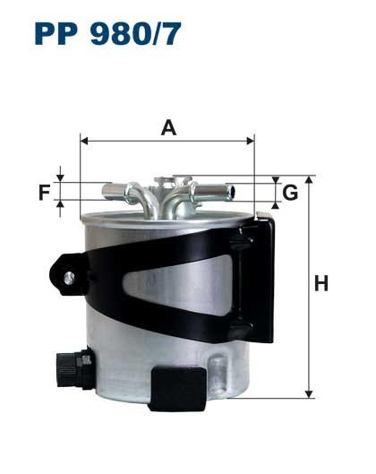 Filtr paliwa PP 980/7 [PP9807] FILTRON