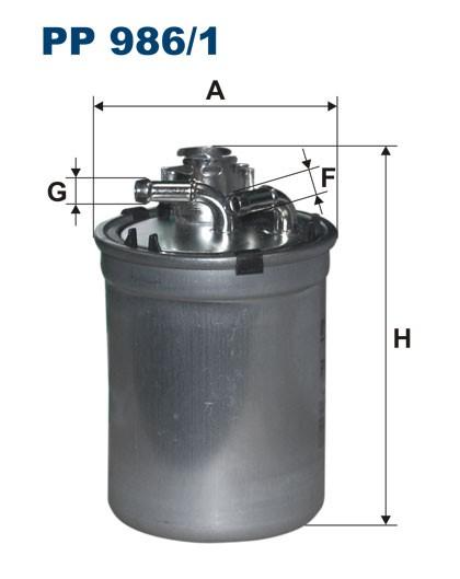 Filtr paliwa PP 986/1 [PP9861] FILTRON