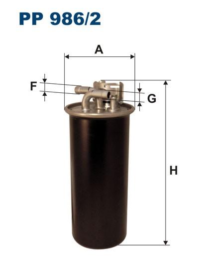 Filtr paliwa PP 986/2 [PP9862] FILTRON