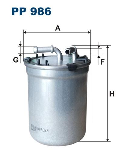 Filtr paliwa PP 986 [PP986] FILTRON