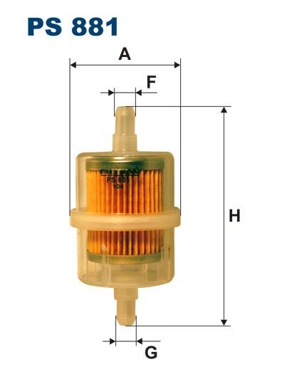Filtr paliwa PS 881 [PS881] FILTRON