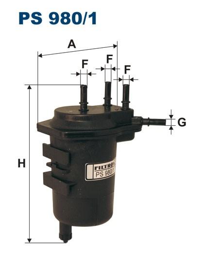 Filtr paliwa PS 980/1 [PS9801] FILTRON