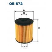 Filtr oleju OE 672 (OE672) FILTRON