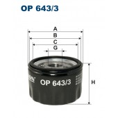 Filtr oleju OP 643/3 (OP6433) FILTRON
